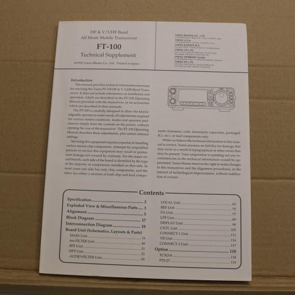 Yaesu FT-100 Technical Supplement