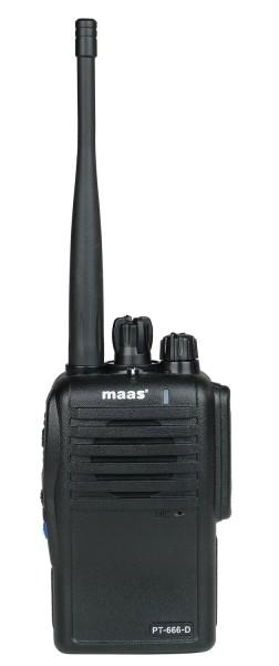 MAAS PT-666D Digital / Analog PMR-446 Funkgerät