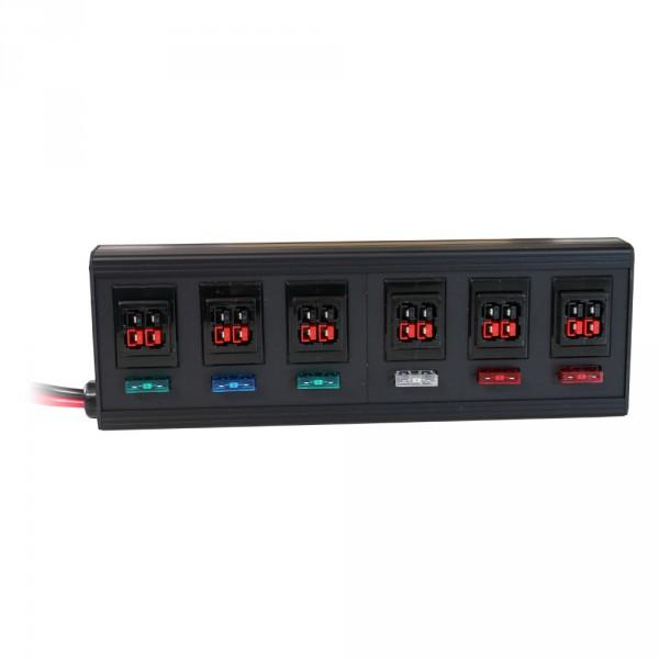 Verteilerleiste 12-fach für PowerPole® und Battery Modular Connector