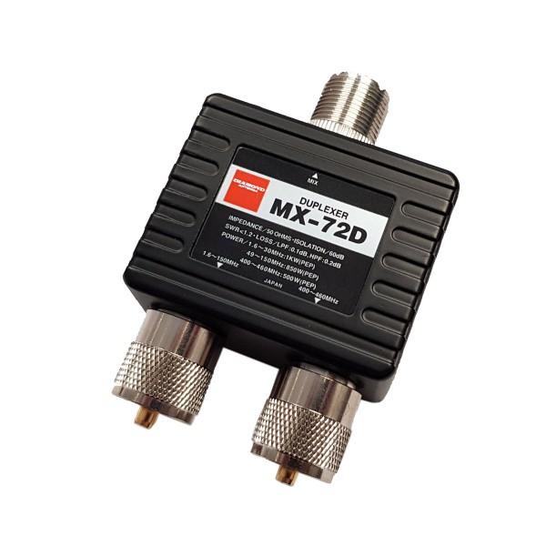 Diamond MX-72D Diplexer 1.6-150/400-460 MHz
