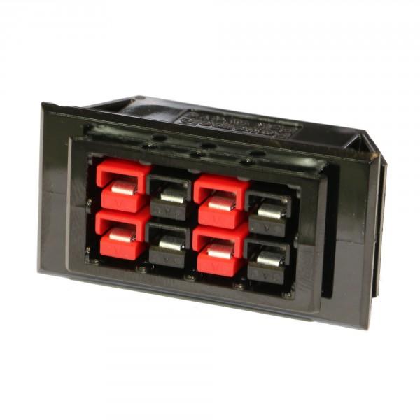 Anderson PowerPole® SnapIn Einbaurahmen, 8er, mit Steckern & Kontakten 30A