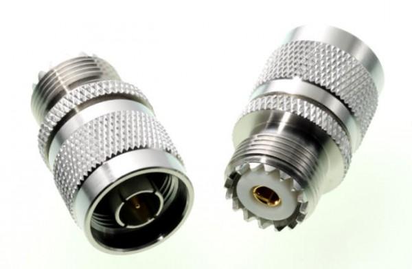 Adapter UHF-/PL-Buchse / N-Stecker