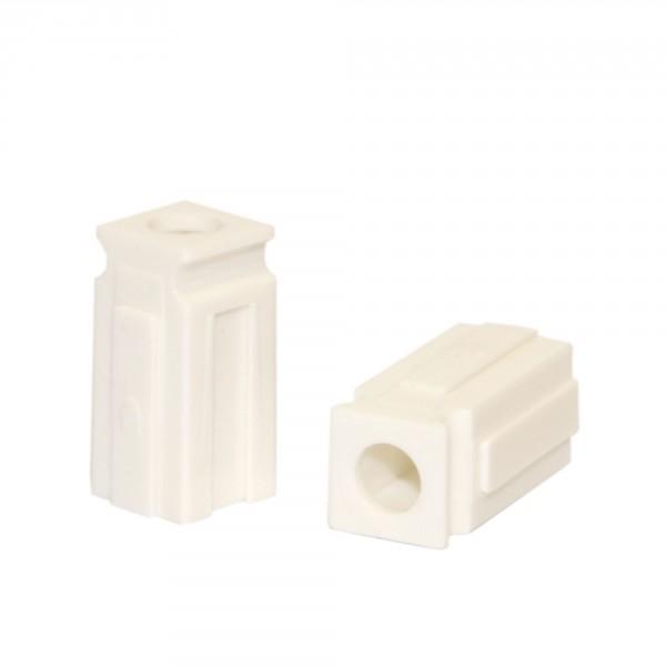 Anderson PowerPole® Abstandshalter / Spacer kurz mit Loch weiß