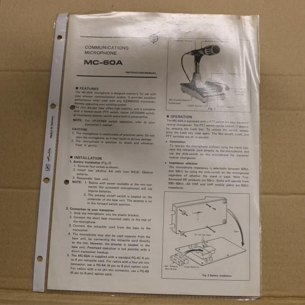 Kenwood MC-60A Instruction Manual