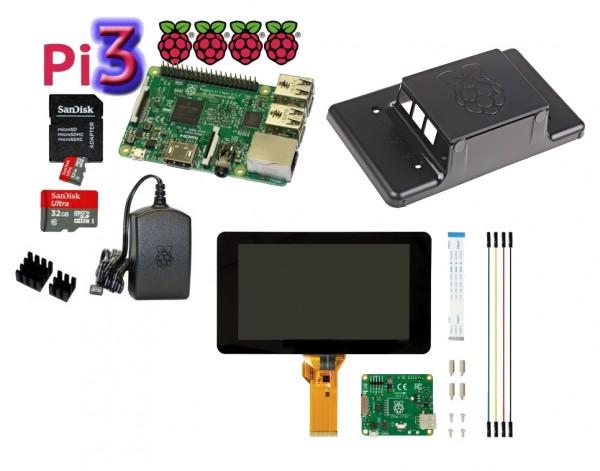 Raspberry Pi 32 GB Bundle mit Touchscreen und Gehäuse