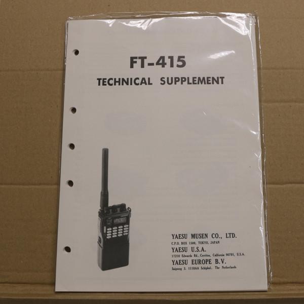 Yaesu FT-415 Technical Supplement