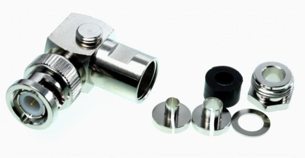 BNC-Winkelstecker für H155, RG58 und andere 5mm Kabel