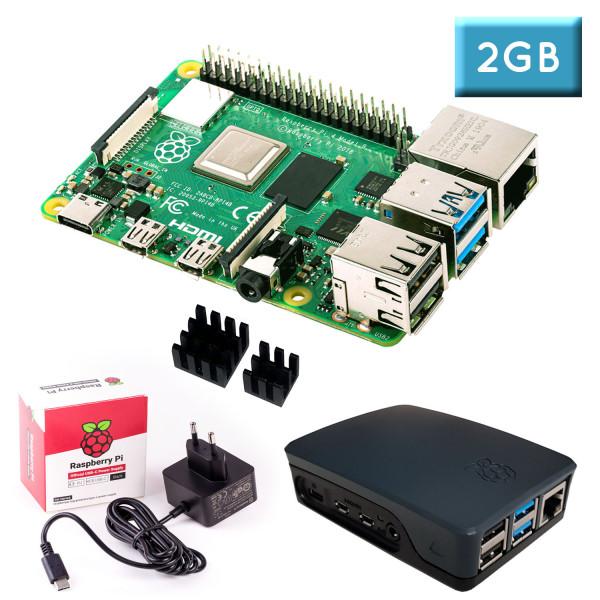 """Raspberry Pi 4 (2GB RAM) """"S"""" Bundle, schwarz"""