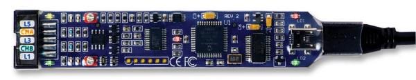 BITSCOPE USB-Oszilloskop/Logikanalysator, BitScope Micro, 2 analoge/6 digitale Kanäle, 20MHz