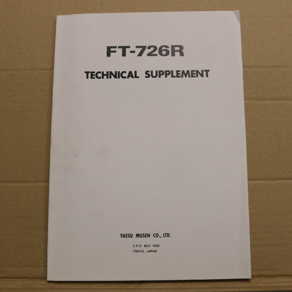 Yaesu FT-726R Technical Supplement