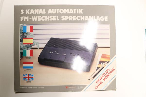 MONACOR 3-Kanal-Auto FM-Wechselsprechanlage WI-300A