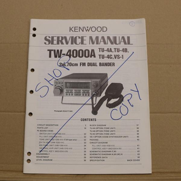Kenwood TW-4000A Service Manual