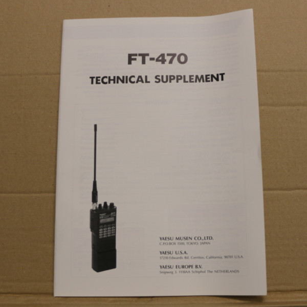 Yaesu FT-470 Technical Supplement