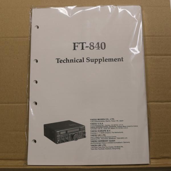 Yaesu FT-840 Technical Supplement