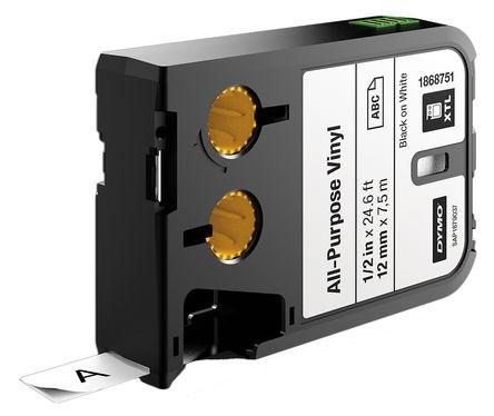 DYMO XTL Industrielle Vinylklebebänder 1868751 schwarz für XTL 300 XTL 500, 1