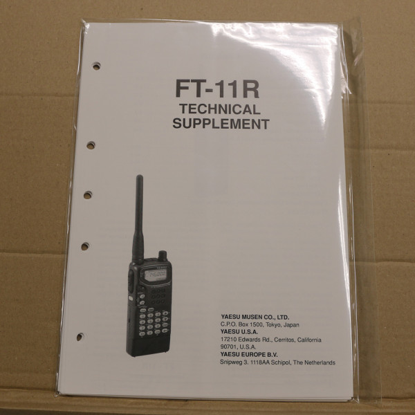 Yaesu FT-11R Technical Supplement
