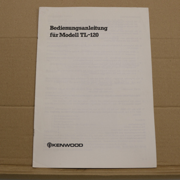 Kenwood TL-120 Bedienungsanleitung