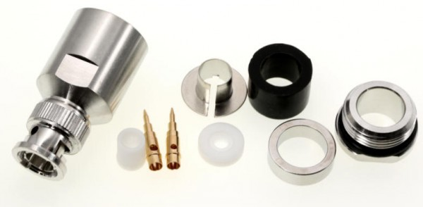 BNC-Stecker für 10mm Koaxialkabel, z.B. RG213, Aircom Plus u.a.