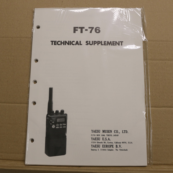 Yaesu FT-76 Technical Supplement