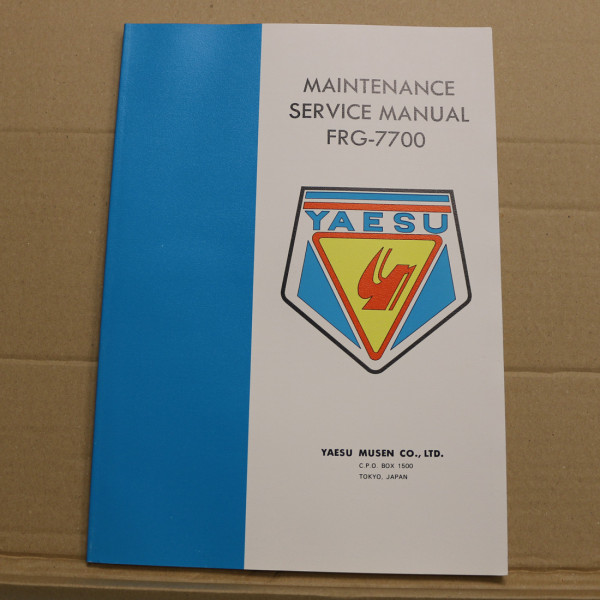 Yaesu FRG-7700 Service Manual