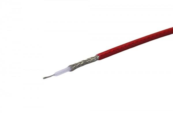 Koaxialkabel RG58 Qualitäts mit kristallrotem Schirm
