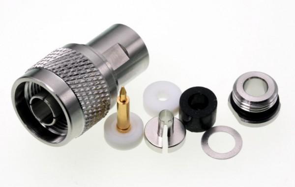 N-Stecker für 5mm Koaxialkabel, z.B. RG58, Aircell 5 u.a.