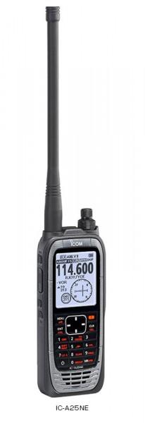 Icom IC-A25NE COM & NAV GPS Bluetooth Flugfunk