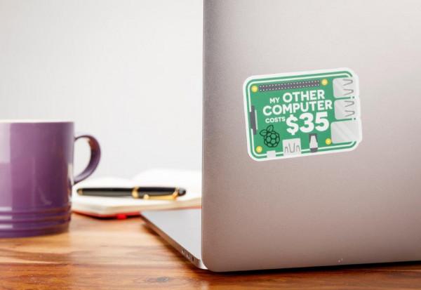 "Raspberry Pi Aufkleber / Sticker ""35$ Computer"""