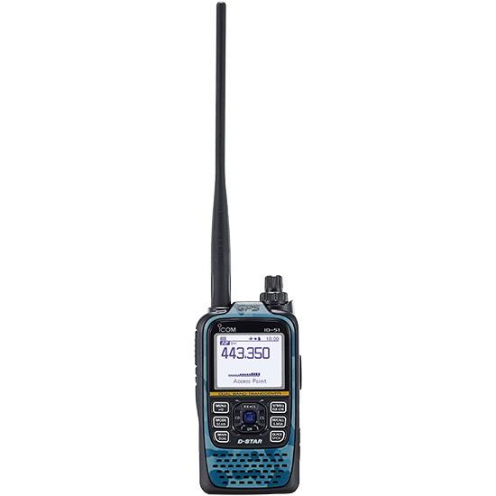 Icom ID-51E Plus2 2m/70cm D-Star Handfunkgerät BLUE + OPC-2350LU B-Ware