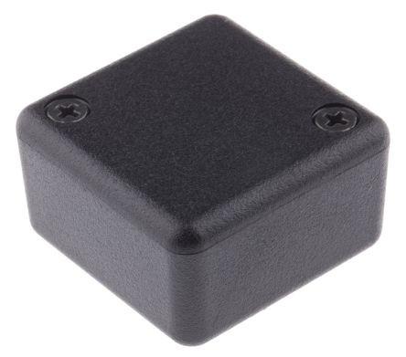 Kunststoffgehäuse, schwarz, 35 x 35 x 20mm