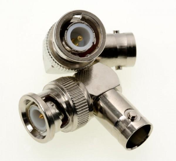 Adapter BNC-Buchse / BNC-Stecker 90 Grad Winkel