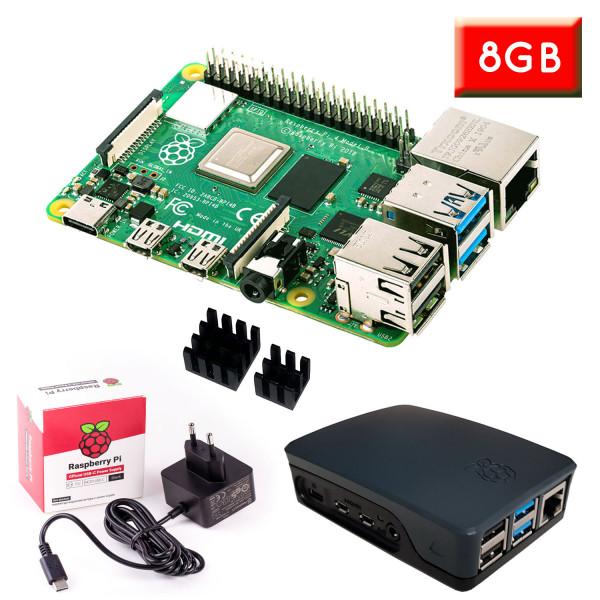 """Raspberry Pi 4 (8GB RAM) """"S"""" Bundle, schwarz"""