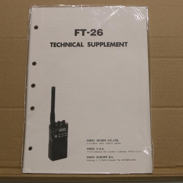 Yaesu FT-26 Technical Supplement