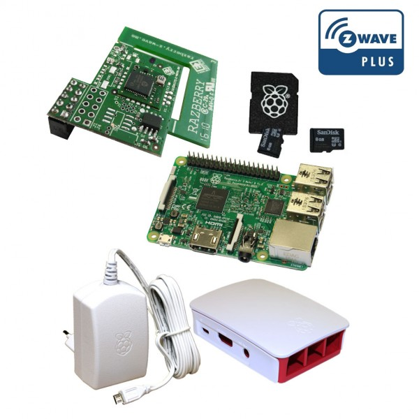 Rasberry Pi Z-Wave Plus Bundle weiß inkl. RaZberry2 Board