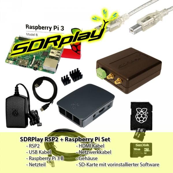 SDRPlay RSP2 + Raspberry Pi 3 B+ Set