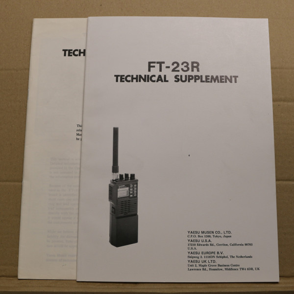 Yaesu FT-23R Technical Supplement