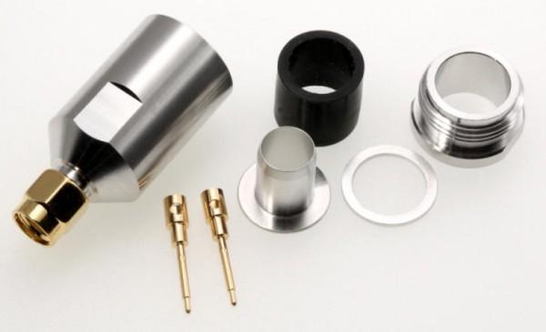 SMA-Stecker für 10mm Koaxialkabel, z.B. RG213, Ecoflex 10 u.a.
