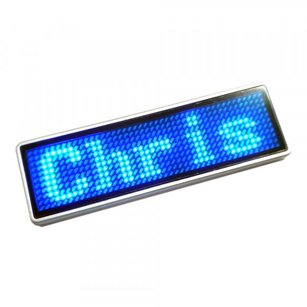 LED Rufzeichenschild, 11x44 Pixel, USB, blau