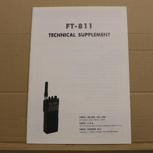 Yaesu FT-811 Technical Supplement