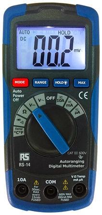 RS 14 Multimeter CAT III 600 V