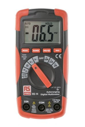 RS 14 Multimeter CAT III 600 V