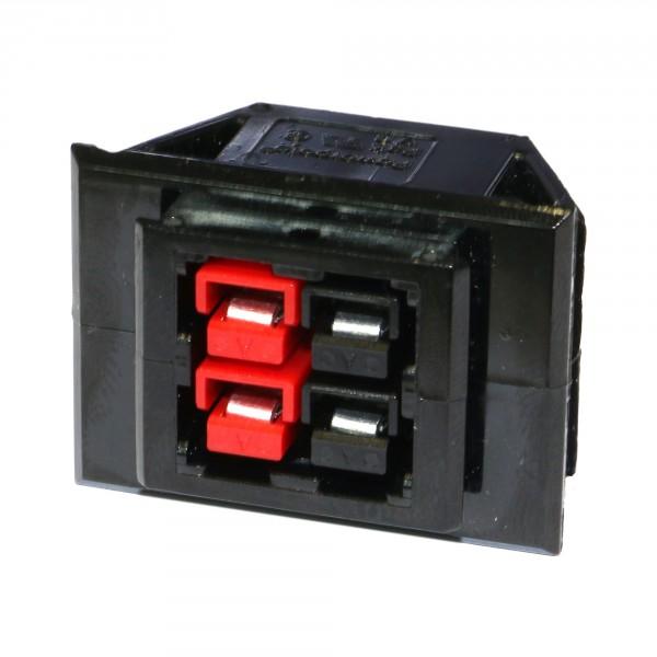 Anderson PowerPole® SnapIn Einbaurahmen, 4er, mit Steckern & Kontakten 30A