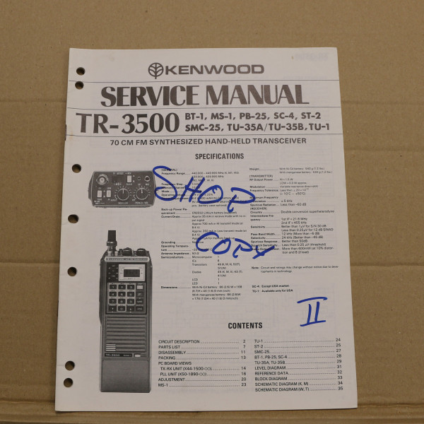 Kenwood TR-3500 Service Manual