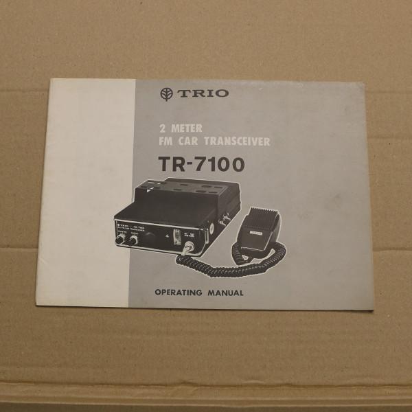 TRIO TR-7100 Operating Manual