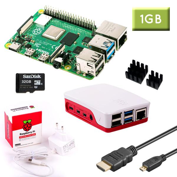 RPi 4 (1GB RAM) Bundle 32GB, weiß