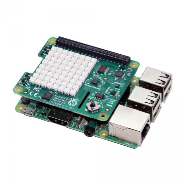 Raspberry Pi Sense HAT montiert