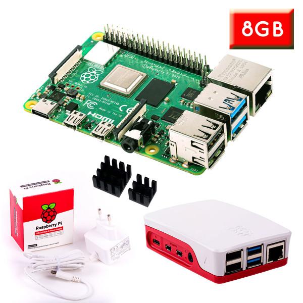 """Raspberry Pi 4 (8GB RAM) """"S"""" Bundle, weiß"""