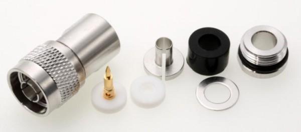 N-Stecker für 7mm HIGHFLEXX 7, Aircell 7, Ultraflex 7, H 2007, LMR 300, MMR 300 u.ä.