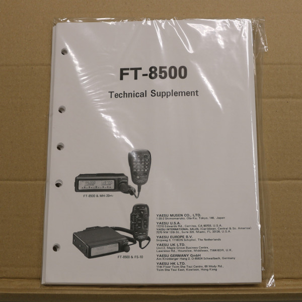Yaesu FT-8500 Technical Supplement