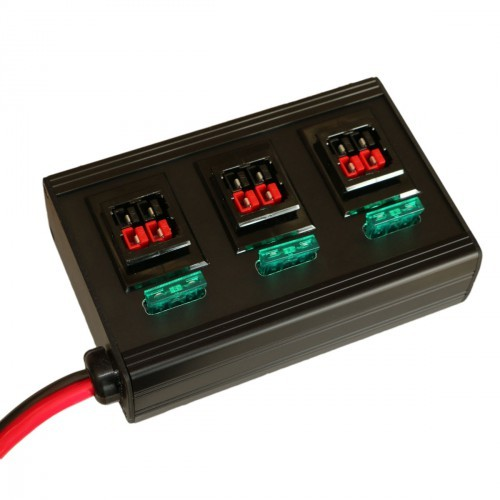 Verteilerleiste 6-fach für PowerPole® und Battery Modular Connector